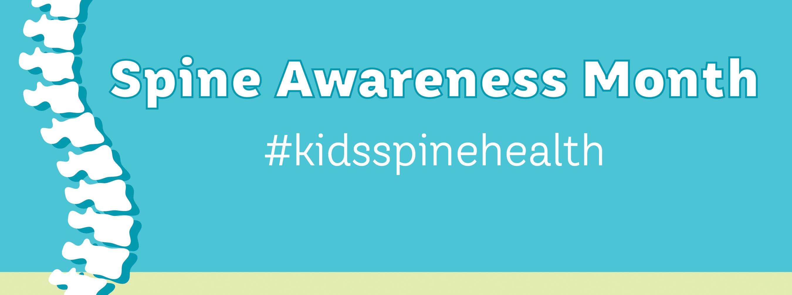 Spine Awareness Month #kidsspinehealth Gillette children's banner