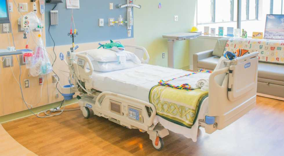inpatient room at gillette children's specialty healthcare