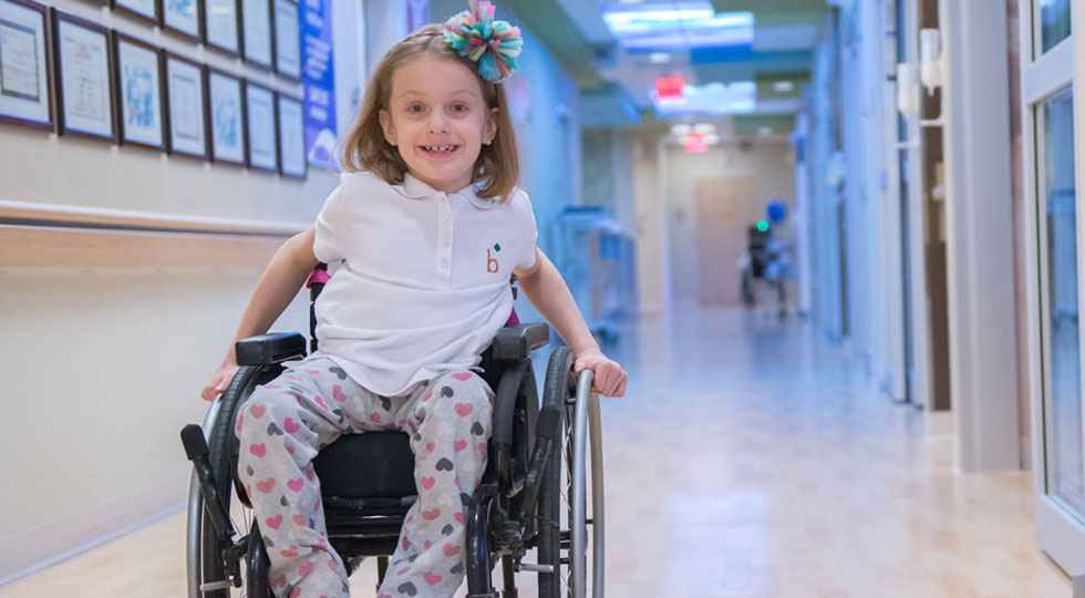 Gillette children's spina bifida patient Maddie