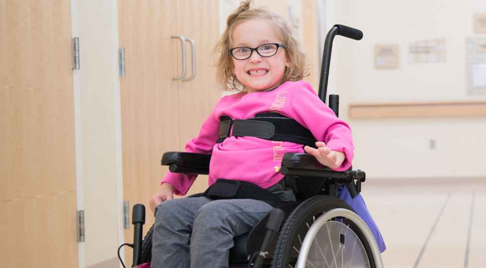 CP patient Kaidyn at Gillette children's specialty healthcare