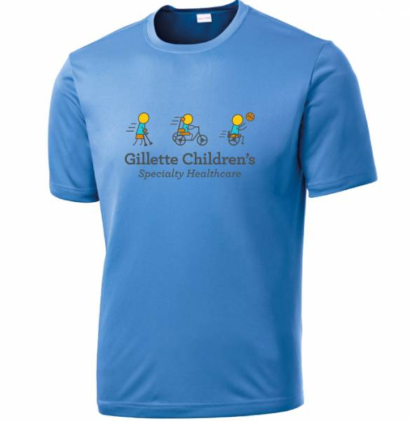 Blue Gillette Dri Fit Shirt
