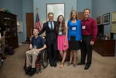 The Wittrock family of Burnsville, Minn., represented Gillette at Speak Now for Kids Family Advocacy Day in Washington DC