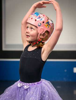 More than one year after sustaining serious injuries in a car accident, Ashlyn looks forward to her first dance recital.