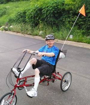 Andy Palmquist Rides an Adaptive Bike