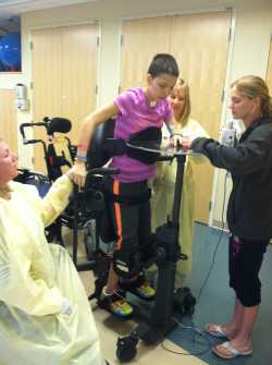 Brianna in intensive physical therapy, occupational therapy