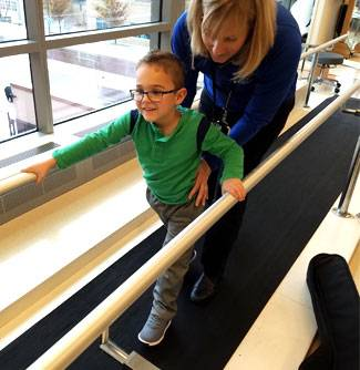 After rhizotomy surgery, kids like Brock undergo inpatient rehabilitation.