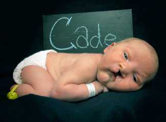 Cade was diagnosed with cleft lip and palate before his birth.