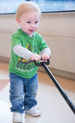 Cameron Osterhoudt received craniosynostosis correction surgery at Gillette Children's.