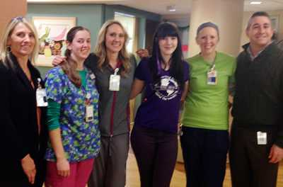 Cassidy Megan visits the neuroscience unit at Gillette Children's Specialty Healthcare