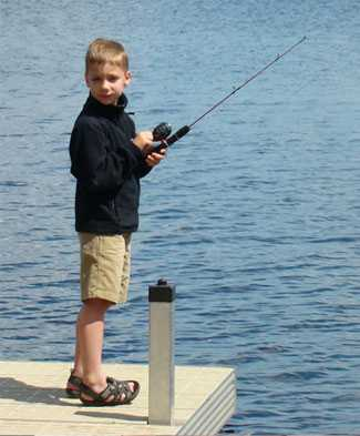 Cole Collins enjoys fishing.