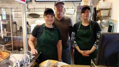 John and Kathy Weatherston of John's Pizza Café in the Como neighborhood of St. Paul open their doors on Christmas Eve—and give it all away.