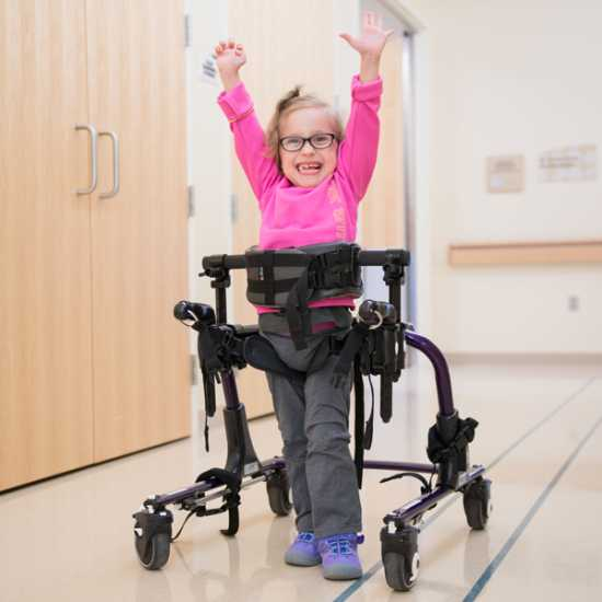 Kaidyn underwent selective dorsal rhizotomy surgery to address issues with spasticity caused by cerebral palsy.