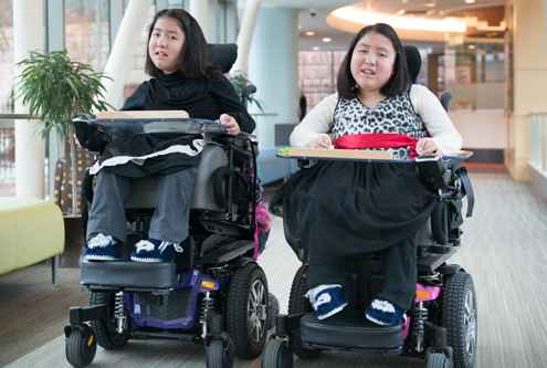 Kiara and Keisy are twins who share a diagnosis of muscular dystrophy.