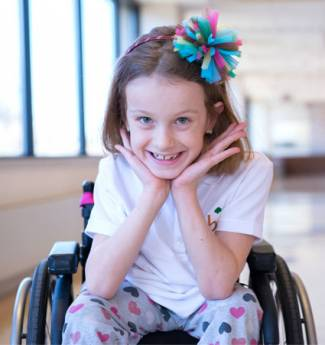 Maddy Lavalier is a confident and spirited 8-year-old who has spina bifida.