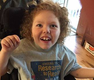 Kira, who has Rett syndrome, participated in the NNZ-2566 study of Trofinetide over the summer.