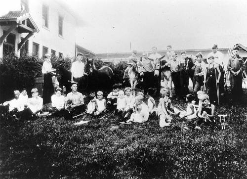 Old photo of children at Gillette children's