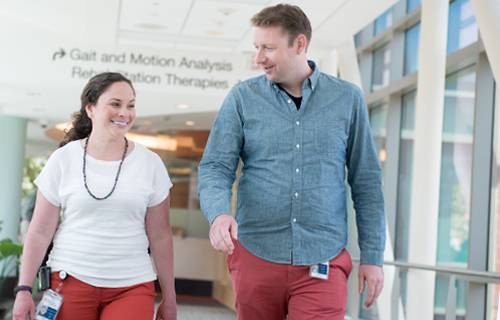Amy and Jeffrey, pediatric rehabilitation medicine fellows discuss how they chose to come to Gillette Children's Specialty Healthcare
