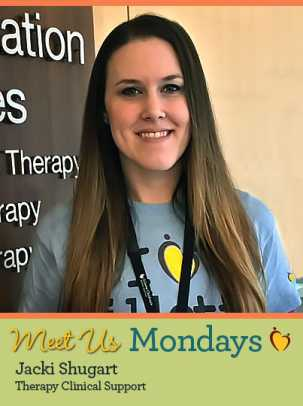 Meet Us Monday – Jacki Shugart, Rehabilitation Therapy Support