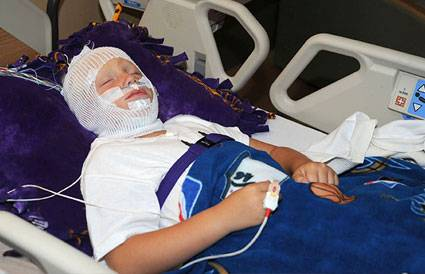 Gillette patient during a sleep study
