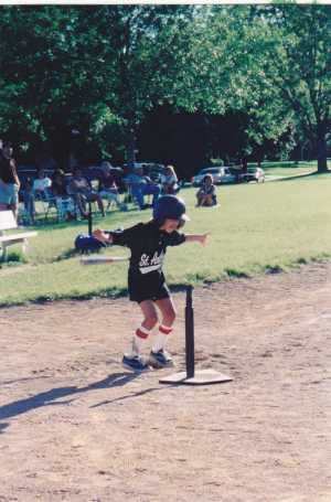 Betsy Keil, playing sports outdoors
