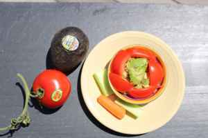Ketogenic diet - fresh veggies for guacamole