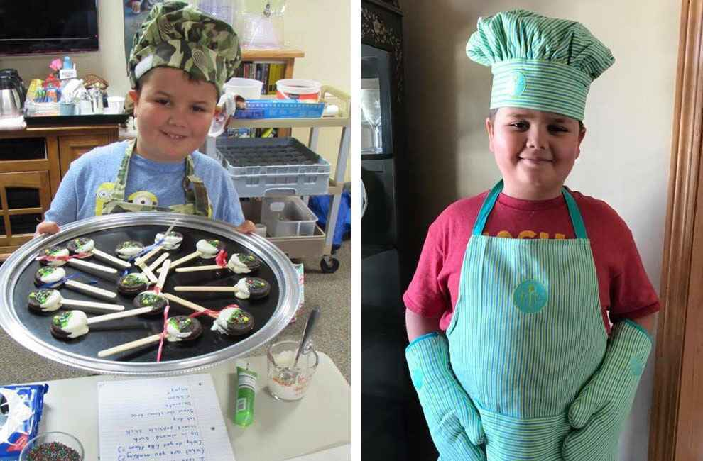 Caleb Pence, a Gillette patient who has osteogenesis imperfecta, loves to cook and volunteer.