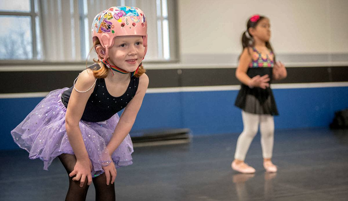 Ashlyn returned to ballet after her accident and rehabilitation.