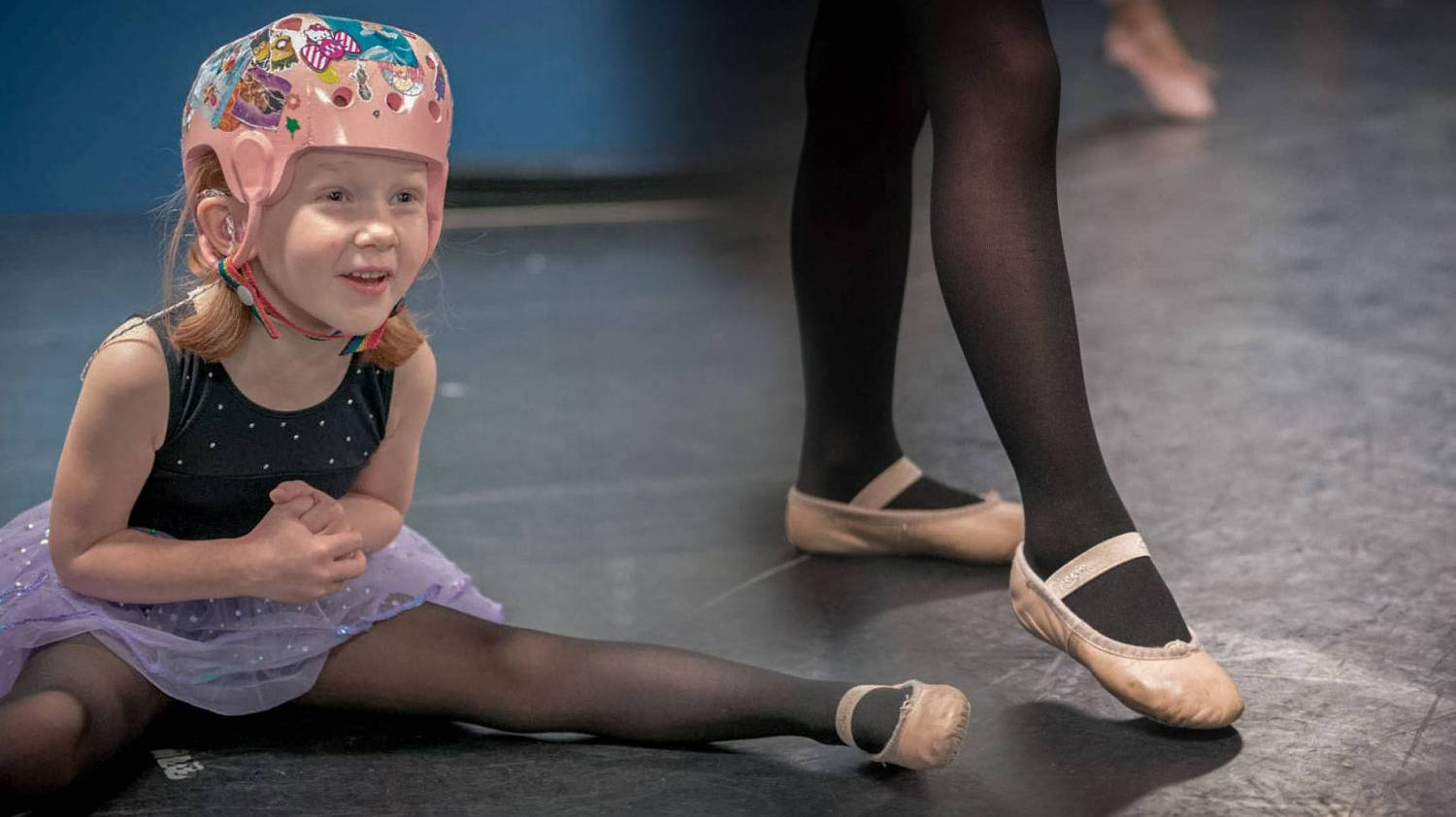 Ashlyn took ballet lessons before her brain injury. Thankfully, after months of rehabiltiation and recovery, she was able to return to dance.