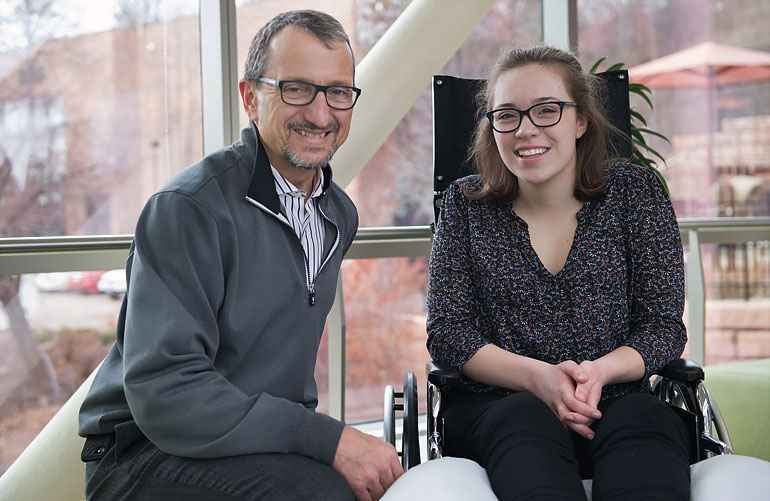 Tom Novacheck, MD, performed two surgeries to address Eliza's hypermobility and lower extremity deformity.