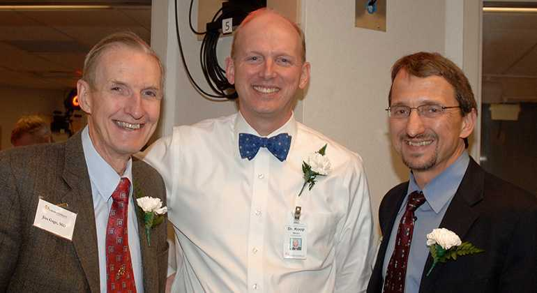 Jim Gage, MD, with colleagues Steven Koop, MD, and Tom Novacheck, MD.