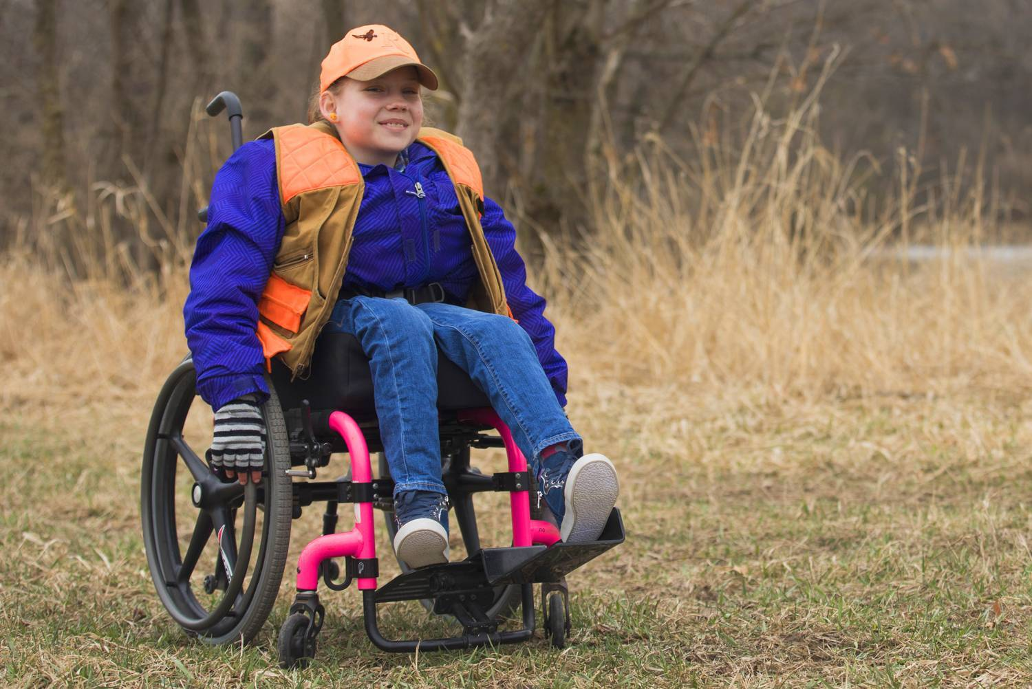 Hailey, who has spina bifida, loves being outdoors.