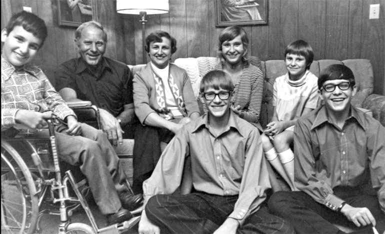 The Burkhardt family: Marion, Buddy and their children.