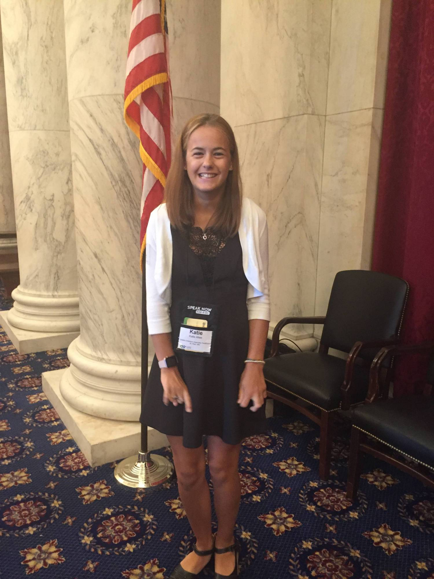 Katie Allee proudly represented Gillette in Washington, D.C.