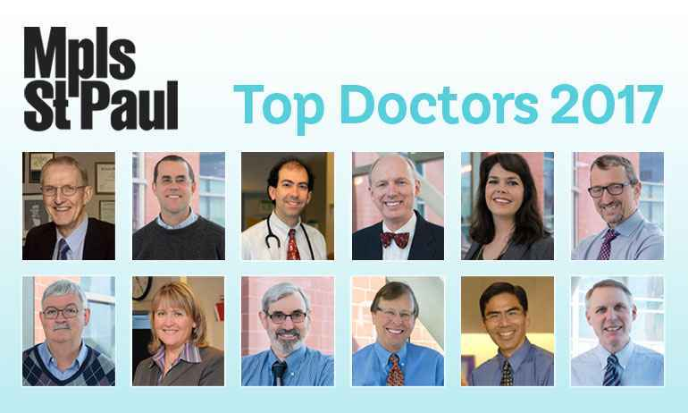 Twelve Gillette physicians were named Top Doctors recently.